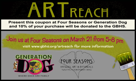 Present this coupon at Four Seasons or Generation Dog during the month of March!